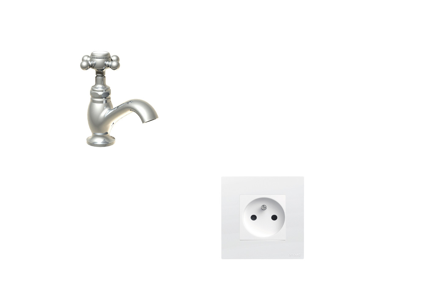Où mettre prise dans salle de bain ?